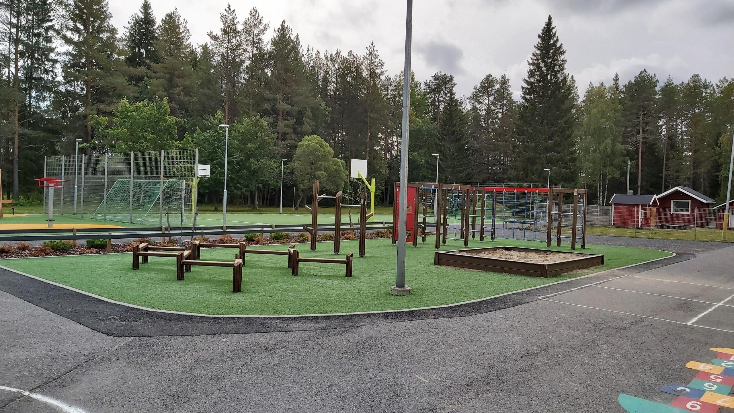 Laitasaaren koulun piha-alue